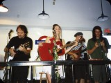 With Abra Moore at Waterloo Records in '97.  L to R:  Chris Searles, Mitch Watkins, Abra Moore, Mike Hynes, J.P. Allen